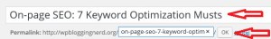 On-page SEO: 7 Keyword Optimization Musts